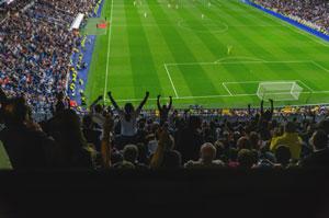 Kibicowanie na stadionie
