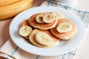 Owsiane placuszki bananowe
