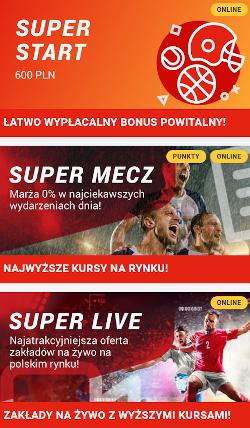 Superbet - bonusy