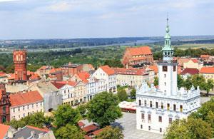 Chełmno - mury miejskie i Brama Grudziądzka