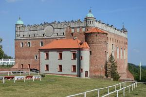 Zamek krzyżacki nad miastem Golub