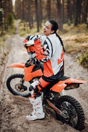 Strój na motocykl crossowy