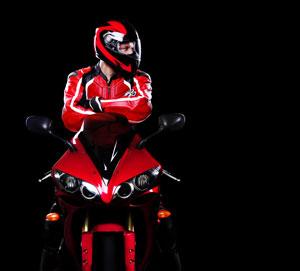 Ubranie no sportowy motocykl