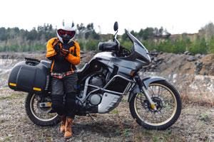 Strój na motocykl turystyczny