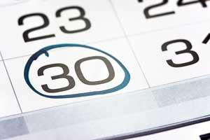 30dniowy termin spłaty